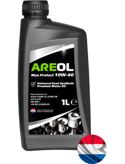 AREOL масло моторное полусинтетическое Max Protect 10W-40, 1л