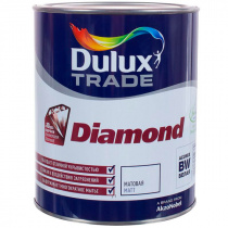 Краска DULUX Trade DIAMOND MATT белая BW, 1 л