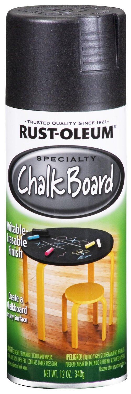 Купить Краска Rust Oleum Specialty с эффектом грифельной доски черный 0.312кг