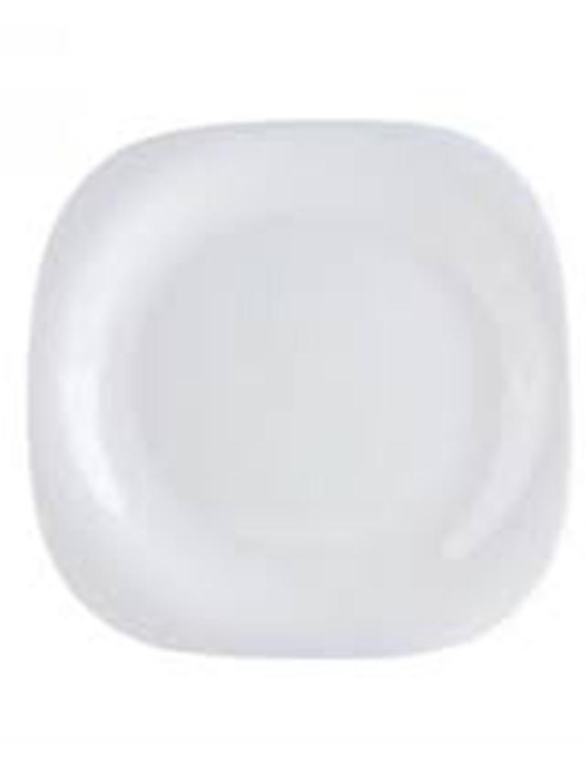 Тарелка десертная стеклокерамическая Carine White артикул L4454 код 145140 19 см  - купить со скидкой