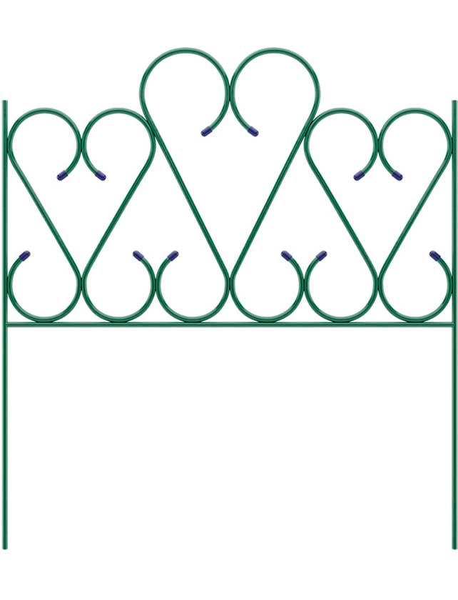 Купить Заборчик сад мет Сердце 1, 0х0, 85м 65044