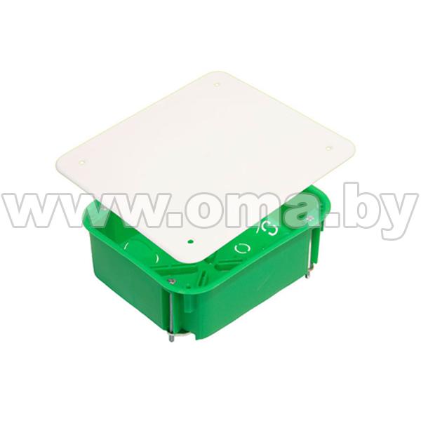 Купить Коробка монтажная, разветвительная для полых стен прямоугольная с крышкой, металлические лапки КР1203-И (г/р 120х100х50)мм HEGEL
