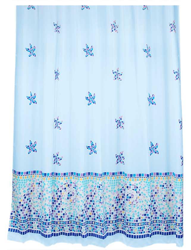 Купить Штора для ванной тканевая 180х180 см Orodo blue, арт. 630-68 (т.м VERRAN)