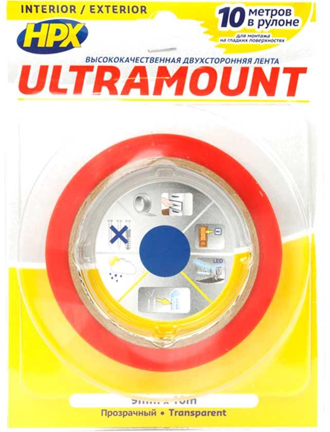 Купить Лента клейкая двухсторонняя ULTRA MOUNT прозрачная 9мм*10м