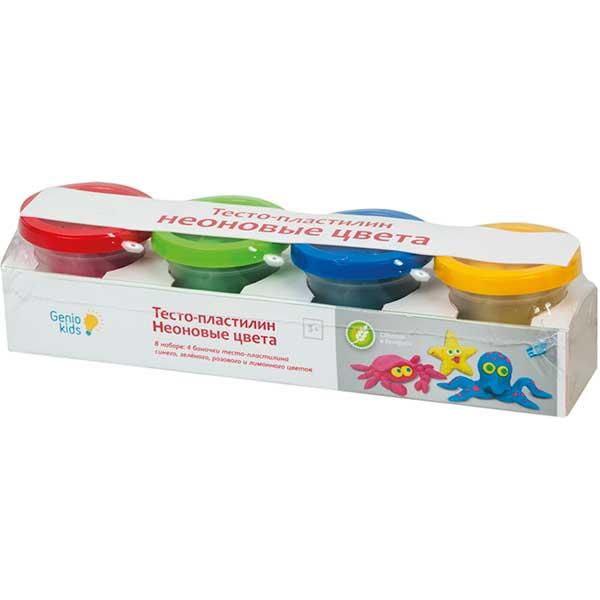 Купить Набор для детской лепки Тесто пластилин. Неоновые цвета артикул TA1016V