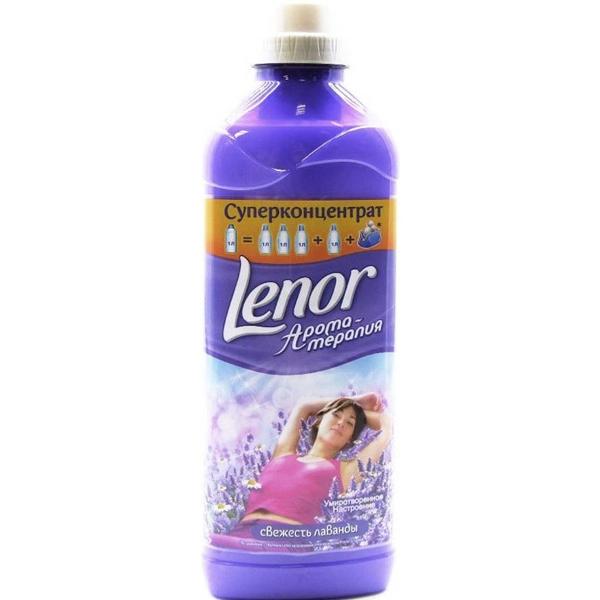 Купить Кондиционер-концентрат для белья Lenor Ароматерапия Свежесть Лаванды Умиротворенное Настроение, 1 литр