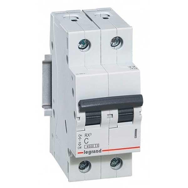 Купить Выключатель автоматический RX3 2P C50A 4, 5кА C 419702 Legrand