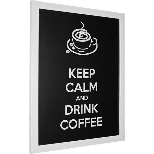 Купить Картина со смыслом Пей кофе. Темная 1301010, 34х44 см