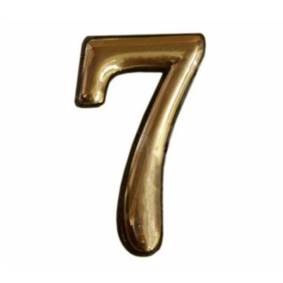 Купить Цифра дверная золото 7 пластик