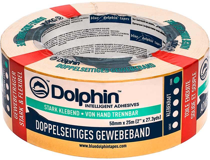 Купить Лента клейкая двухсторонняя ковровая Blue Dolphin 50мм x 25м