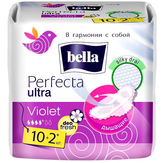 Купить Женск. г/прокл. BELLA Perfecta Ultra Deo Fresh 10 шт.+ 2 шт.