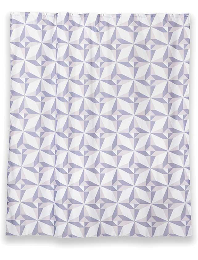Купить Штора для ванной тканевая 180x200 см Triangulo, арт. T625-7 (т.м WESS)
