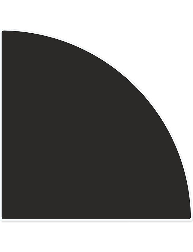 Купить Полка стеклянная вкладная угловая ПС 004-07 черная, 250х250 мм