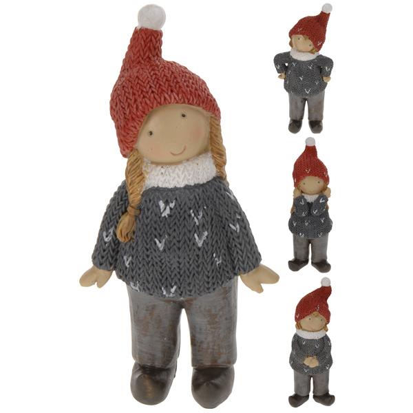 Купить Сувенир новогодний Девочка ALX410510 в ассортименте 12, 5 см, полистоун