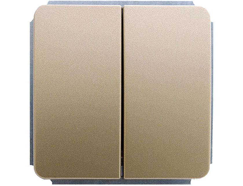 Купить Выключатель двухклавишный без рамки Gusi Extra С1В2-005 золото