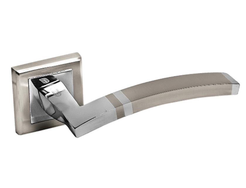 Ручки раздельные PALIDORE A-230HH/PC белый никель/хром  - купить со скидкой