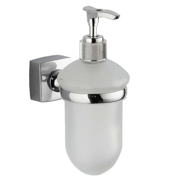 Купить Дозатор для жидкого мыла настенный UNIVERSAL, стекло/цинк, хром, ILLU, арт. Z-10779