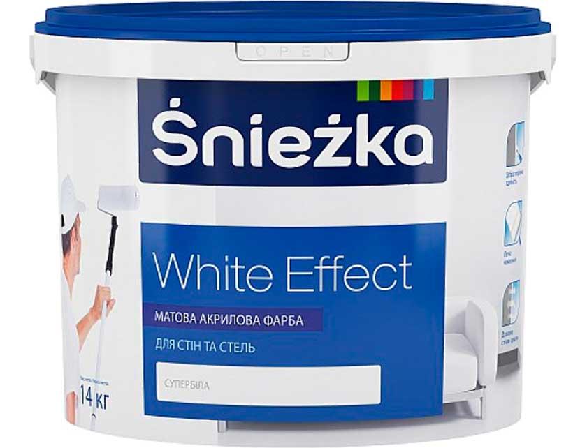 Купить Краска для внутренних работ Sniezka White Effect 1, 4кг