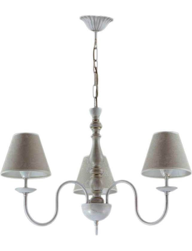 Купить Светильник подвесной (CL) Сабрина 8403 НСБ белый золото патина дерево (3*40Вт, Е14) ООО Белсветоимпорт