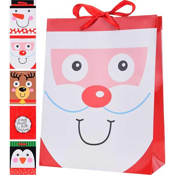Купить Подарочный пакет Новогодний, 18х8х23 см, бумага
