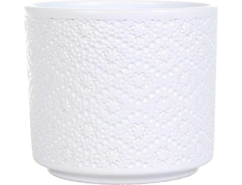 Купить Кашпо керамическое FLORA 998, 0, 7 л 12 см белое