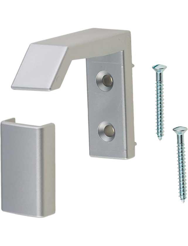Купить Крючок мебельный металлический цвет белый алюминий 0853/MV11