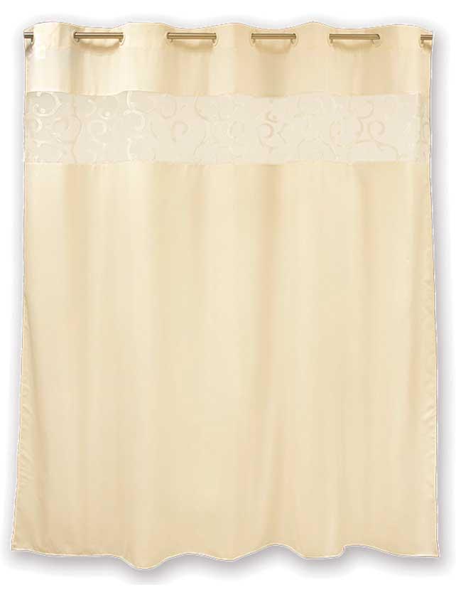 Купить Штора для ванной тканевая 200x200 см Numkesh beige, арт. T585-6 (т.м WESS)