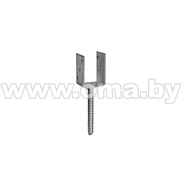 Купить Основание столба PS 100 U 101x325x120 мм (тяжелое) Арт. 480501