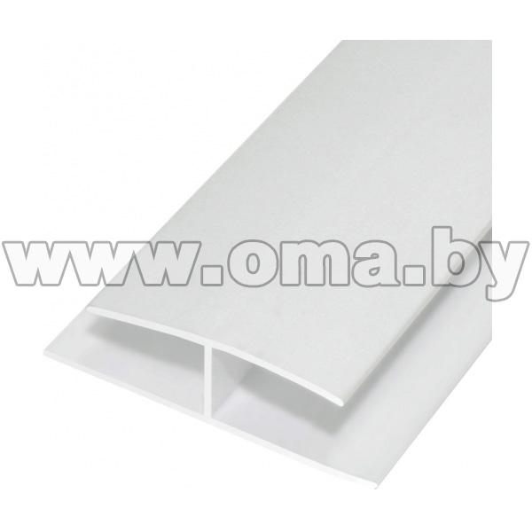 Купить ПВХ Н-профиль соединительный 48х10 3м белый арт.0305