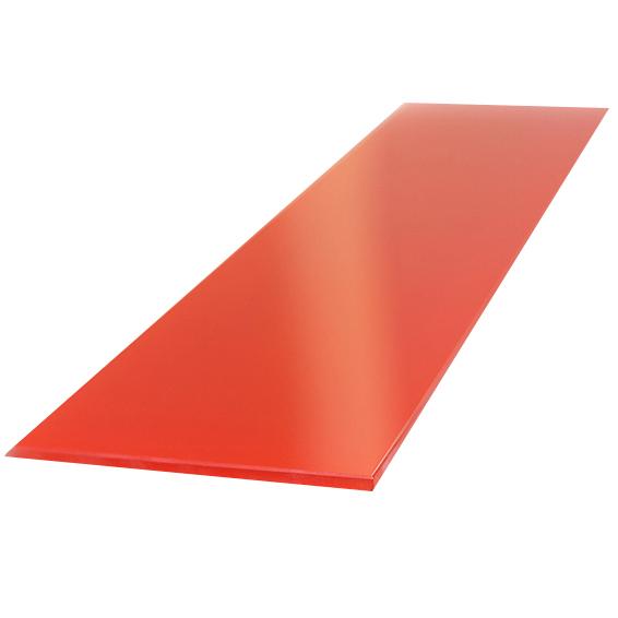 Купить Полка стеклянная, вкладная, 500*130, стекло, красная, арт. ПС 002-01