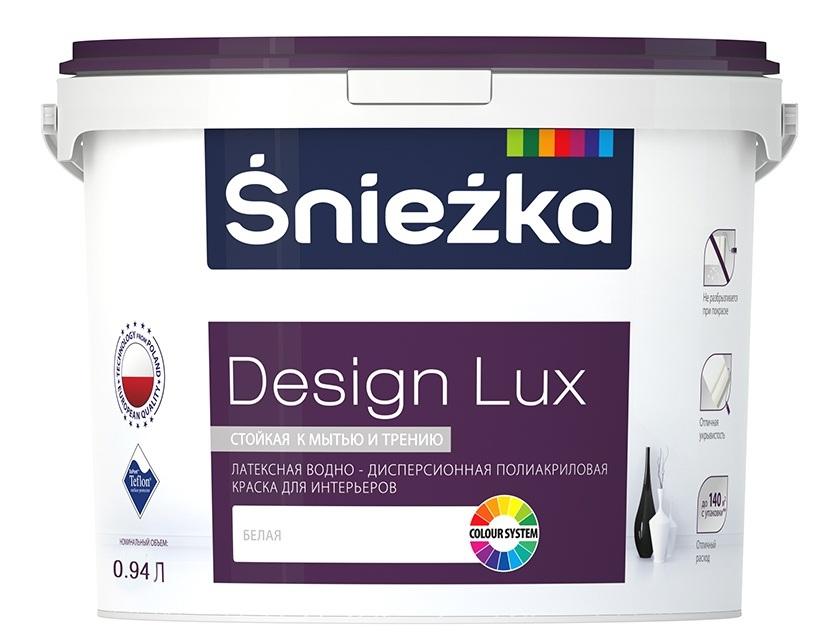 Купить Краска Sniezka Design Lux для внутренних работ 4, 7 л.