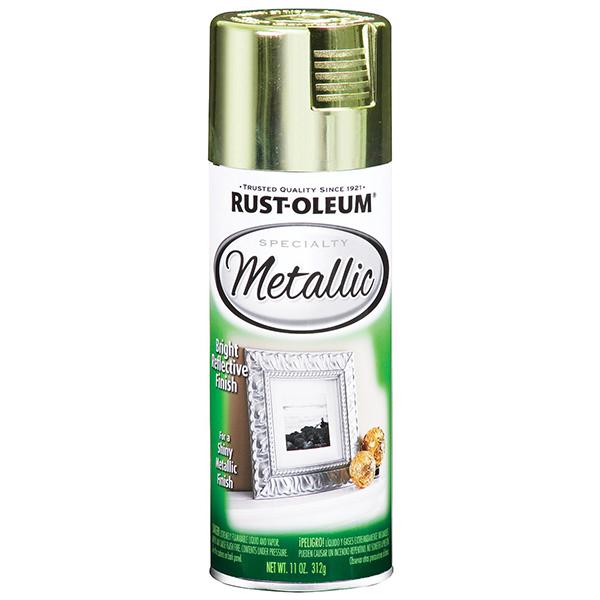 Купить Краска Rust Oleum Specialty с эффектом яркого металлика Латунь 0.312кг
