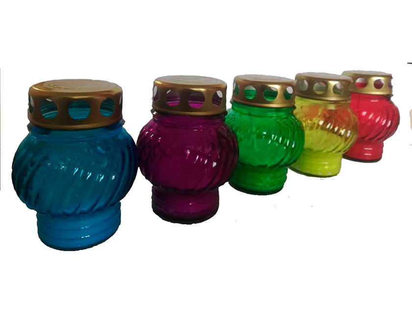 Купить Лампада ритуальная D-110, стекло, в ассортименте, арт. 43.11