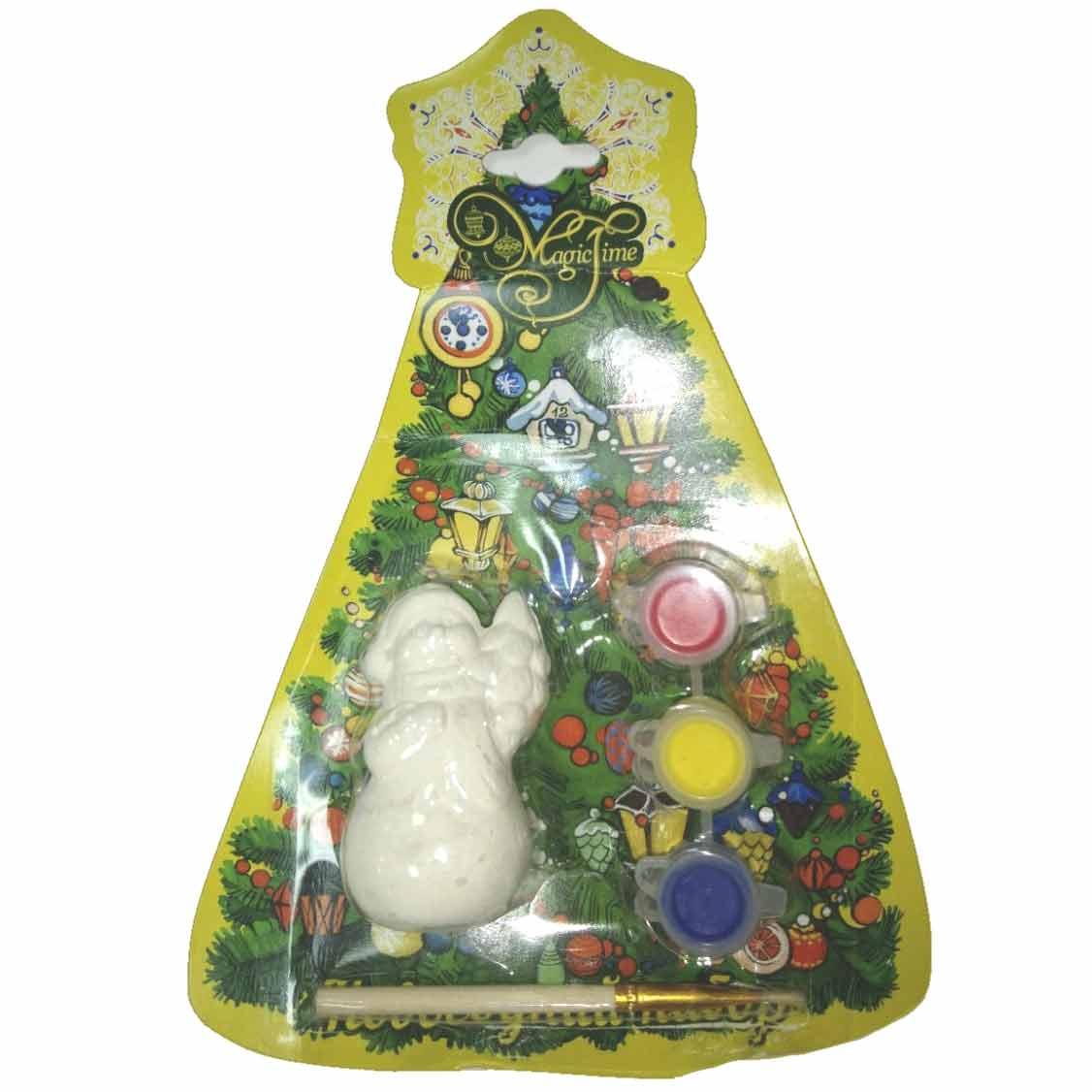 Купить Новогодний набор для творчества Снеговик с мешком артикул 75932 4х3, 5х7, 5 см