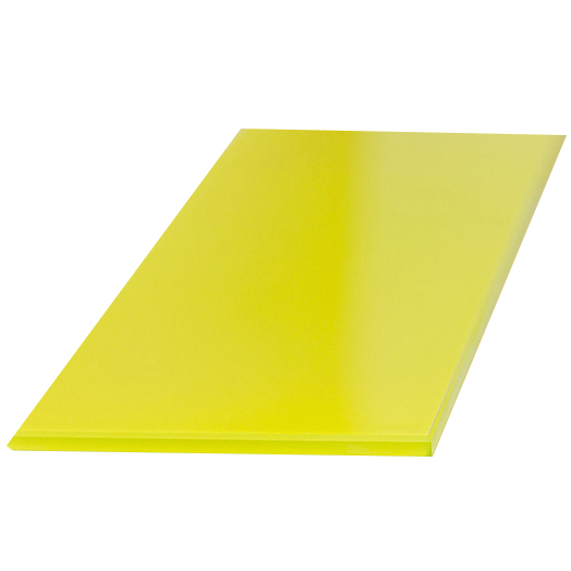 Купить Полка стеклянная, вкладная, 500*130, стекло, желтая, арт. ПС 002-03
