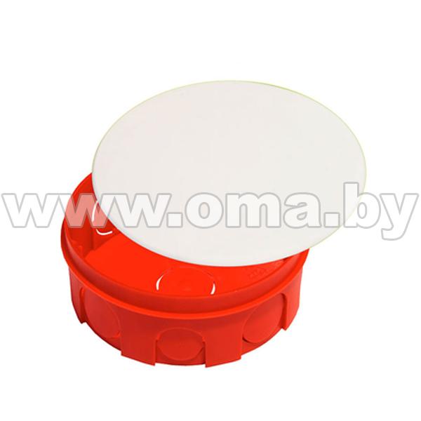 Купить Коробка монтажная, разветвительная для сплошных стен круглая с крышкой КР1105-И (г/р Ф104х40)мм HEGEL