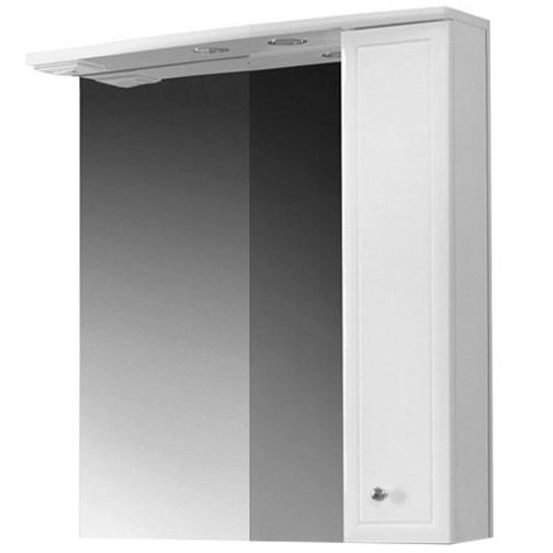 Купить Зеркало со шкафом Адажио В 60 Ш, белое левое