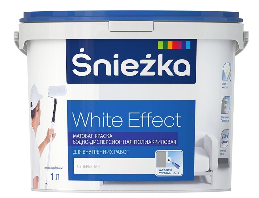 Купить Краска Sniezka White Effect для внутренних работ 5 л