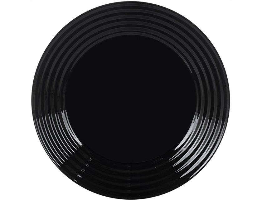 Купить Тарелка мелкая стеклокерамическая Harena Black артикул L7611 код 145300 25 см