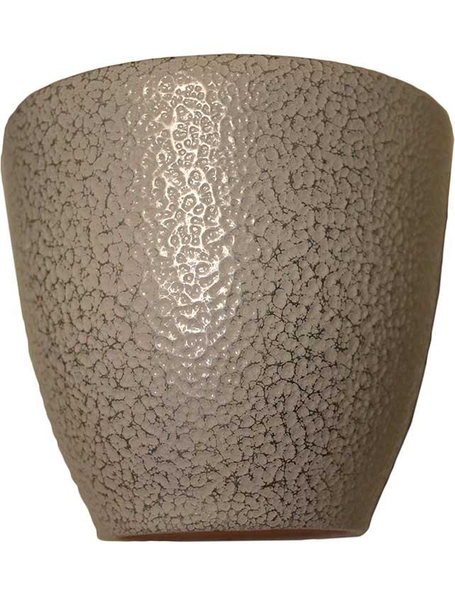 Купить Горшок керамический с подставкой серебро 1 л