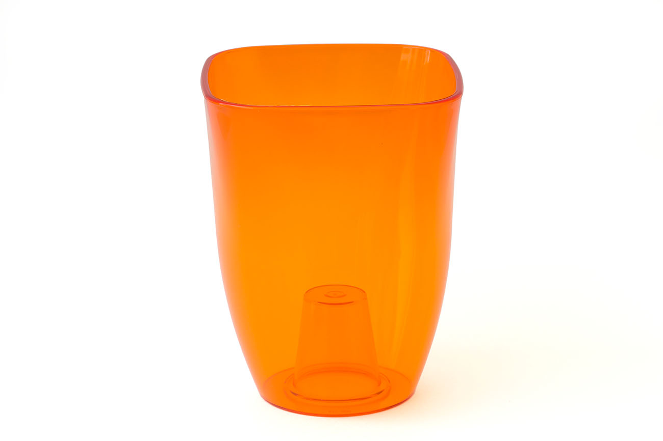 Купить Ваза для орхидей малая 125x125x165 (арт.Т3204) оранжевый, пластик