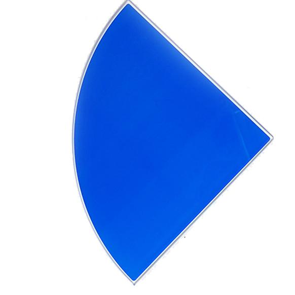 Купить Полка стеклянная, вкладная, 250*250, угловая, стекло, салатовая, арт. ПС 004-02