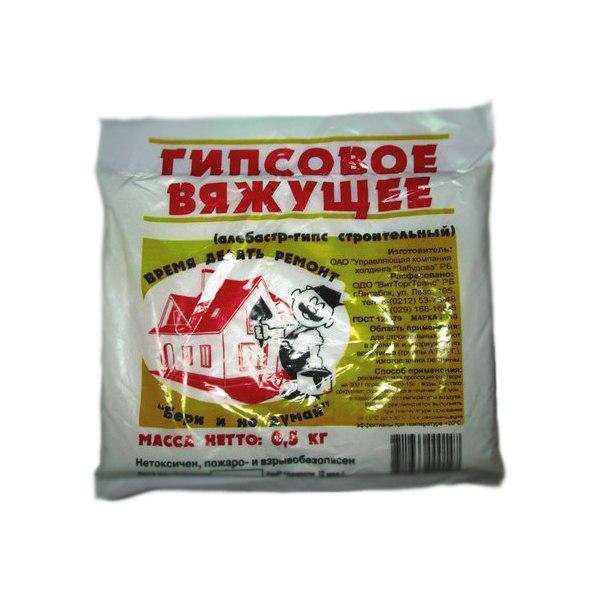 Купить Алебастр (гипс строительный), 0, 5 кг