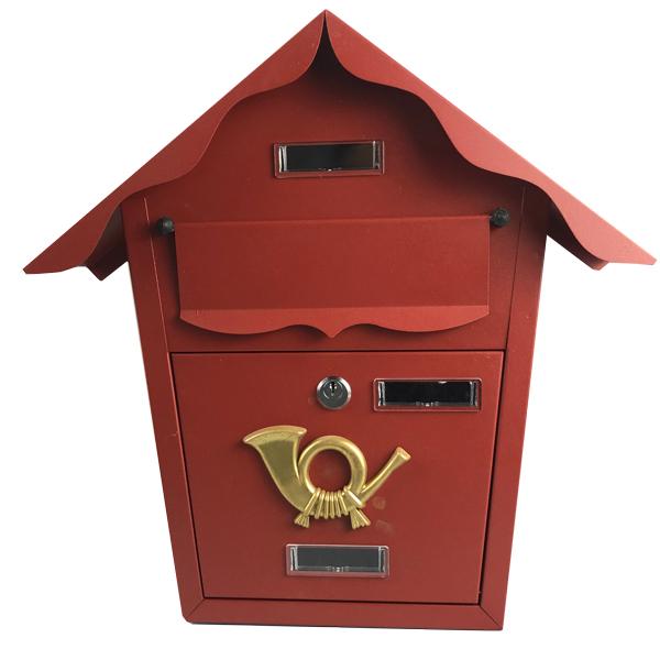 Купить Ящик почтовый YL0129-1 кирпично-красный 370х375х110 мм
