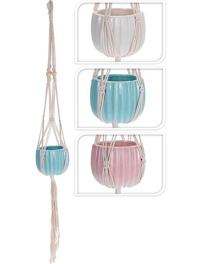 Купить Горшок подвесной HZ1901560 керамический круглый, 13, 5 см