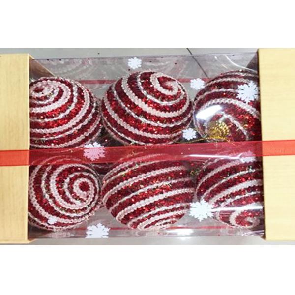 Купить Набор шаров ёлочных 12 шт. 6см, арт. X16167R6