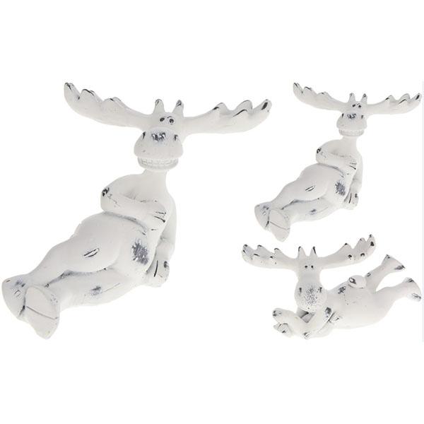 Купить Сувенир новогодний Олень AAA743550 белый в ассортименте, полистоун