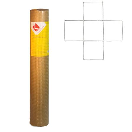 Купить Сетка сварная оцинкованная D2, 0 Ячейка 50х50 мм, 1х25 м