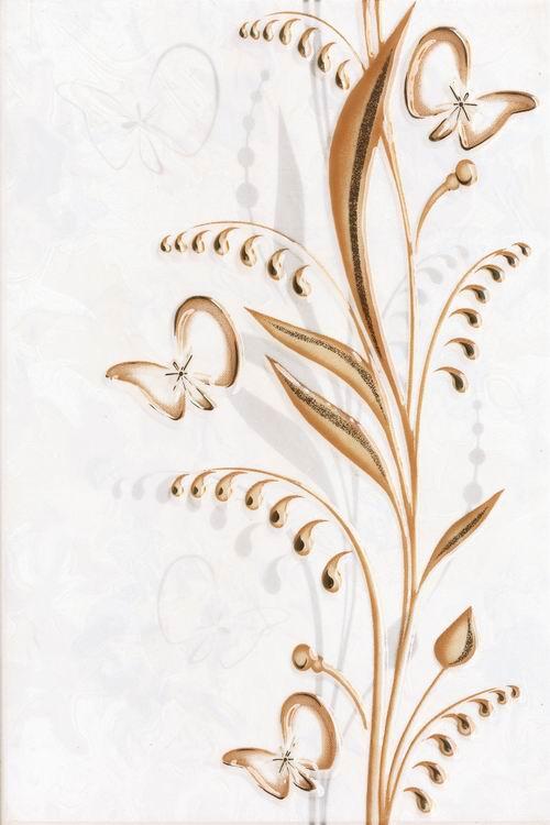 Купить Плитка для ванной Beryoza Ceramica Нарцисс / Narciss лето декор бежевый 200 х 300