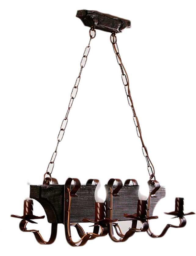 Купить Светильник подвесной (CL) Трактир 568 НСБ венге (6*40Вт, Е14) ООО Белсветоимпорт